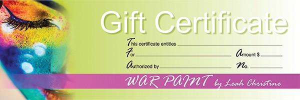 Certificate-WarPaint