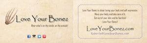 Love Your Bonez Business Card