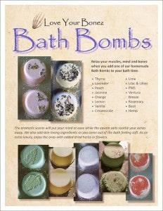 Bath Bombs flyer