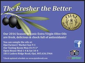 Ojai Olive Oil display ad design