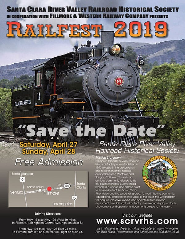 2019 railfest flier graphic design