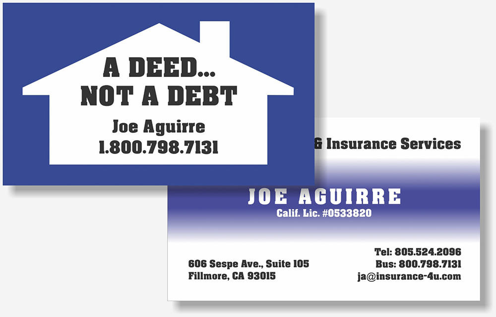 Aguirre Financial business card