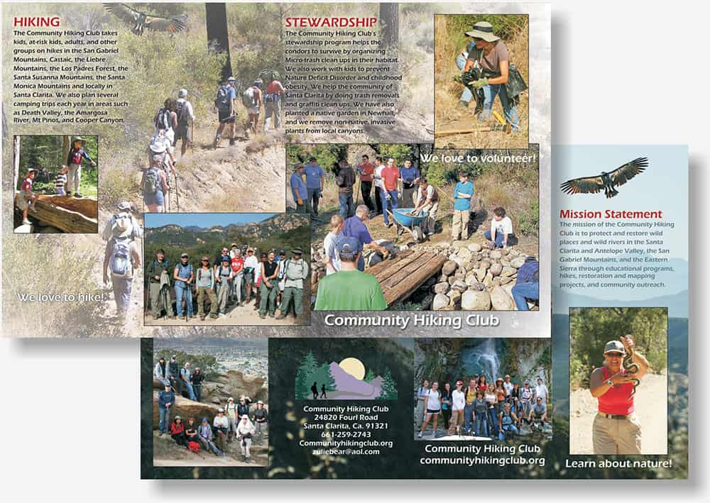 Santa Clarita Hiking Club brochure