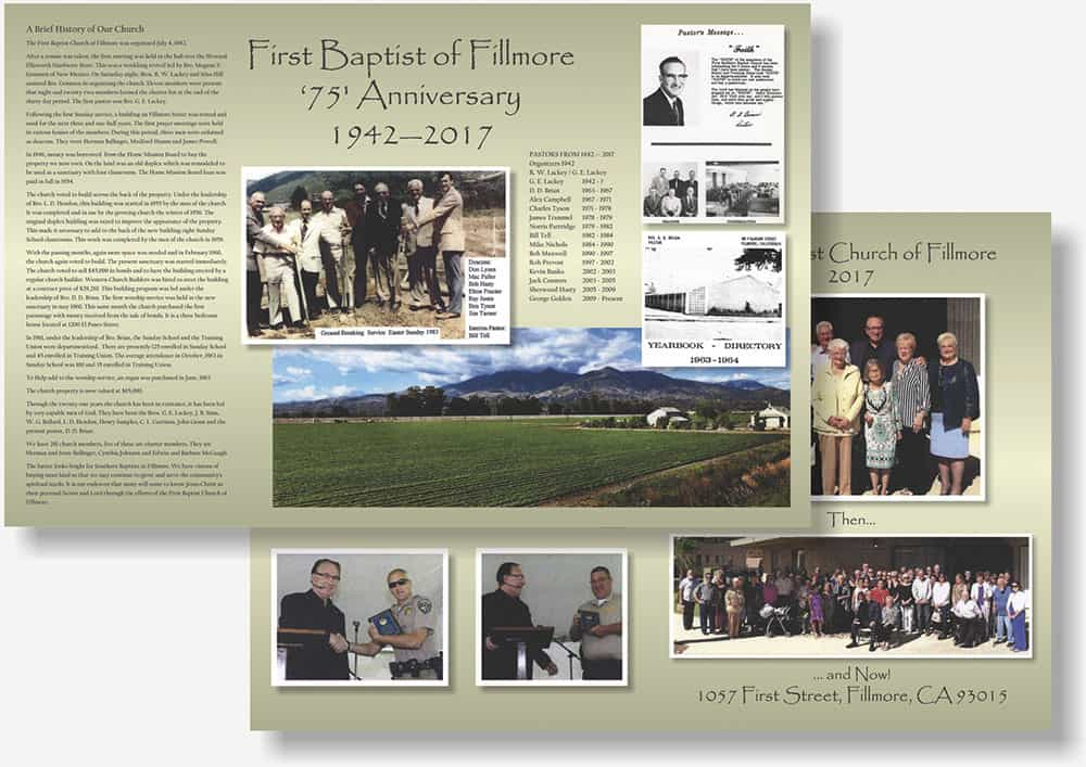 Fillmore Baptist Church brochure