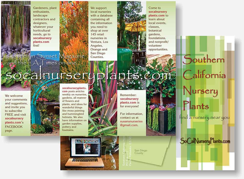 SoCal Nursery Plants brochure