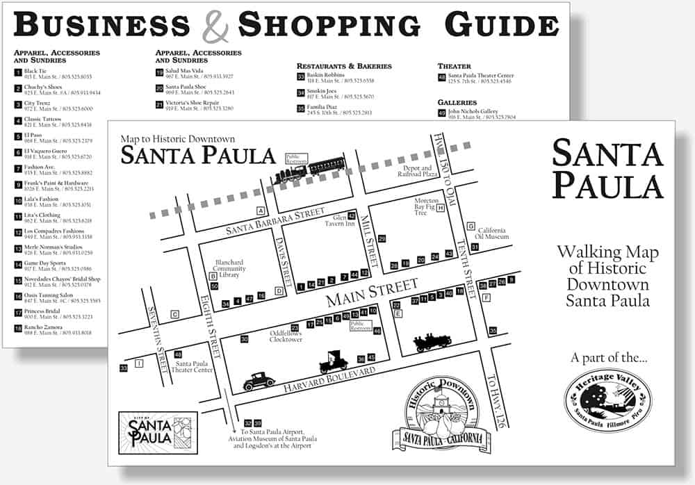 Santa Paula Downtown Merchants brocure