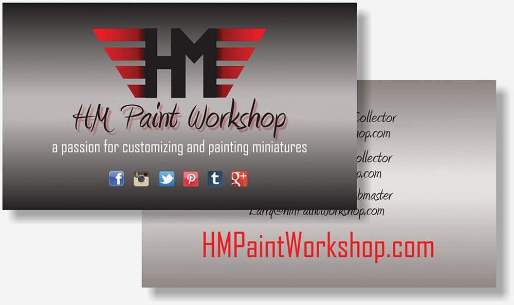 HM Paint Workshop business card