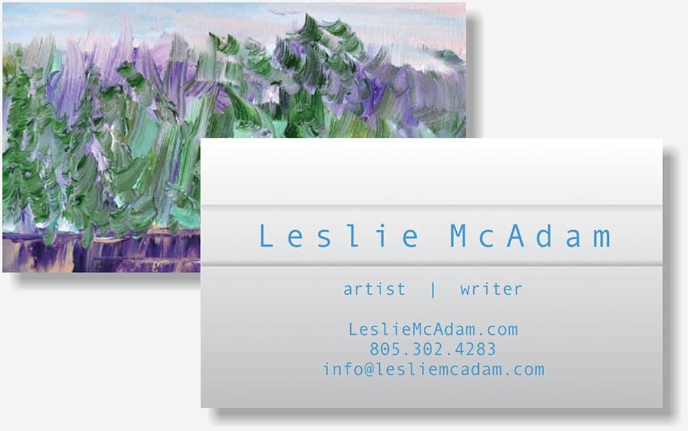 Leslie McAdam business card