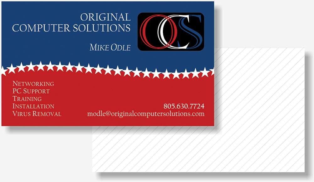 Original Computer Solutions business card