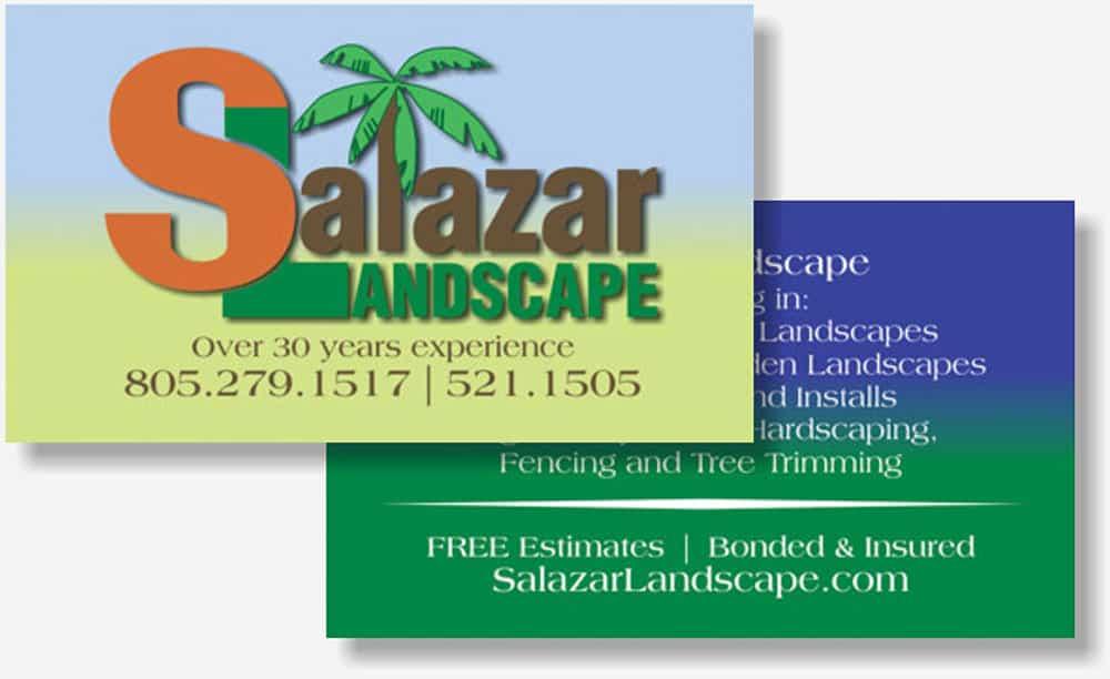 Salazar Landscaping business card