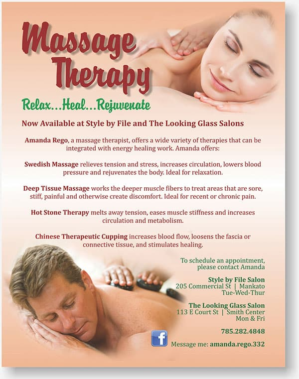Massage Therapy flier