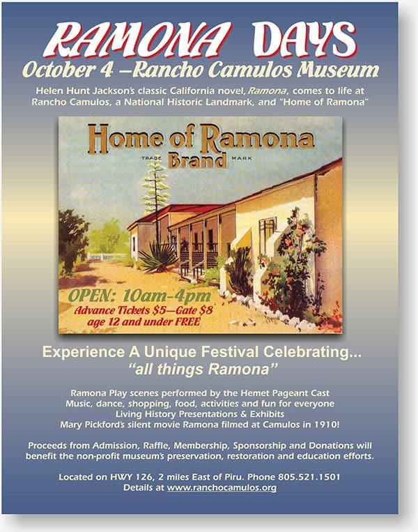 Rancho Camulos flier