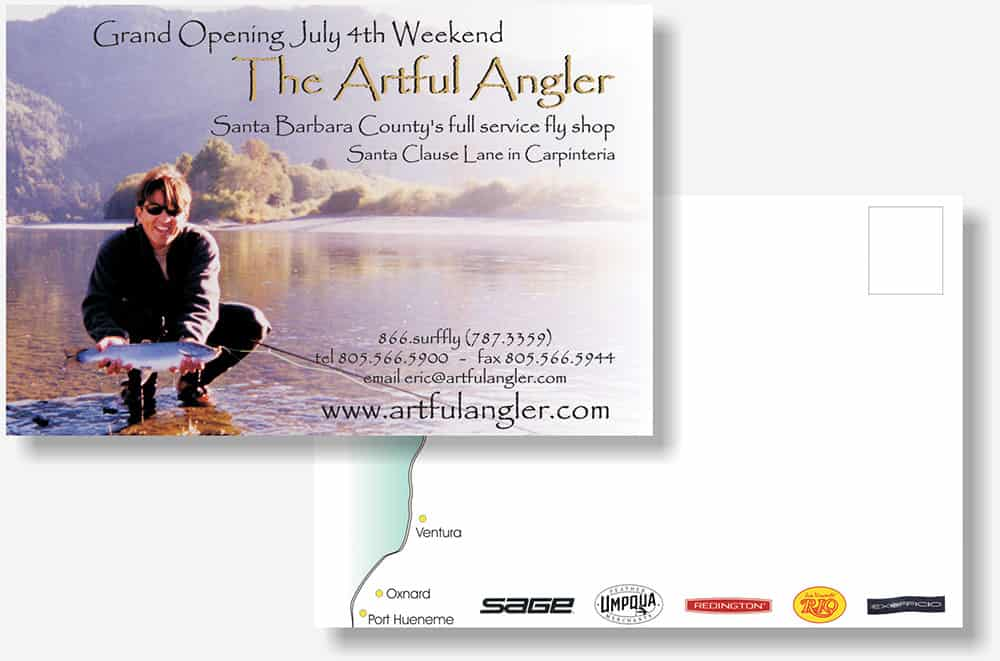 The Artfule Angler postcard