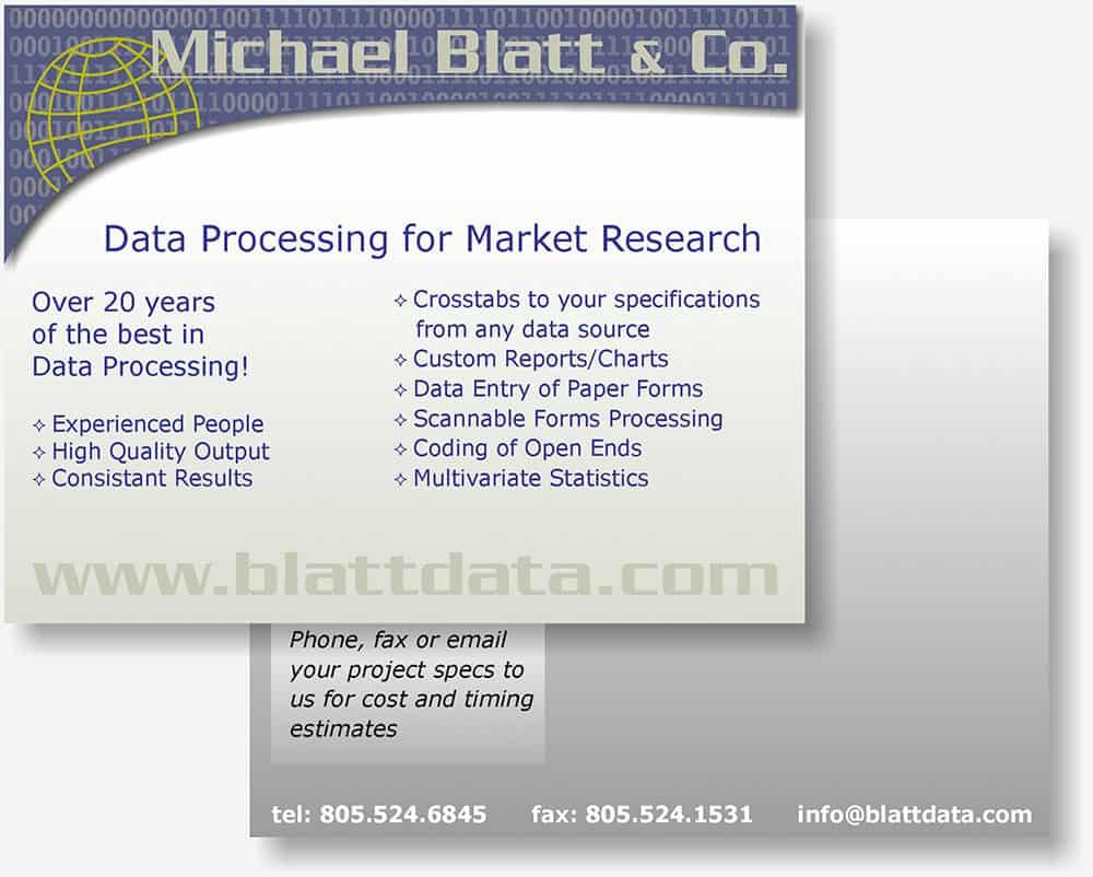 Michael Blatt postcard