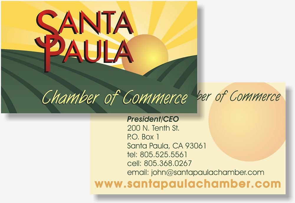 Santa Paula Chamber busness card