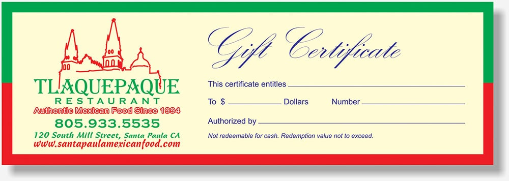 Tlaquepaque gift certificate