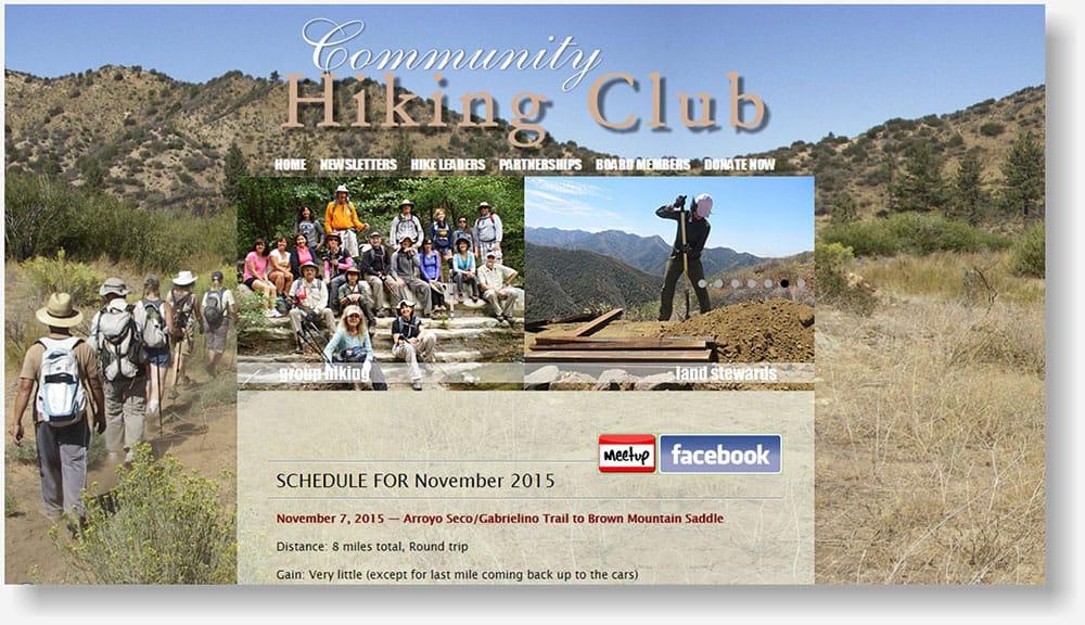 Santa Clarita Hiking Club website
