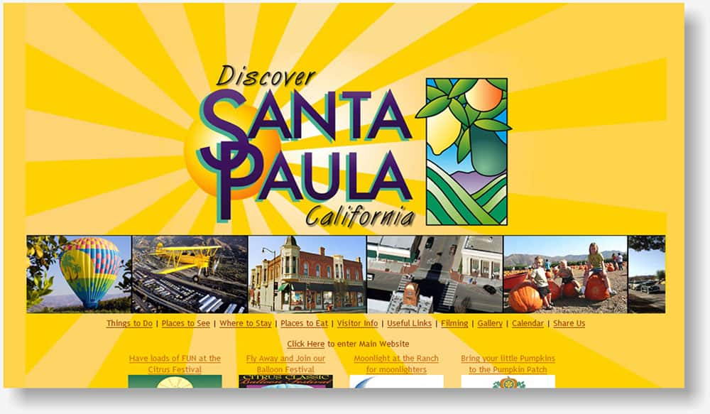 Discover Santa Paula website