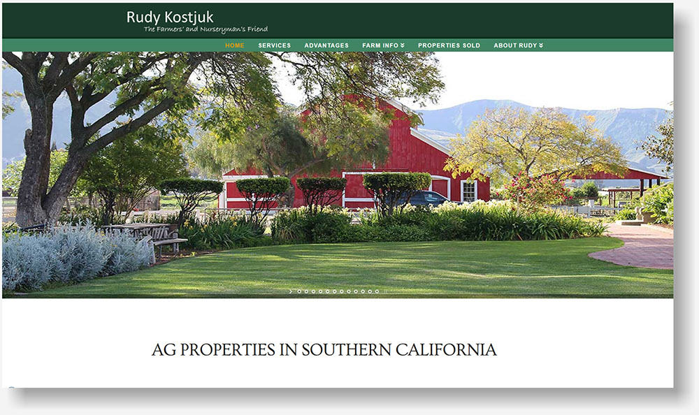 Ventura County Ag Real Estate website