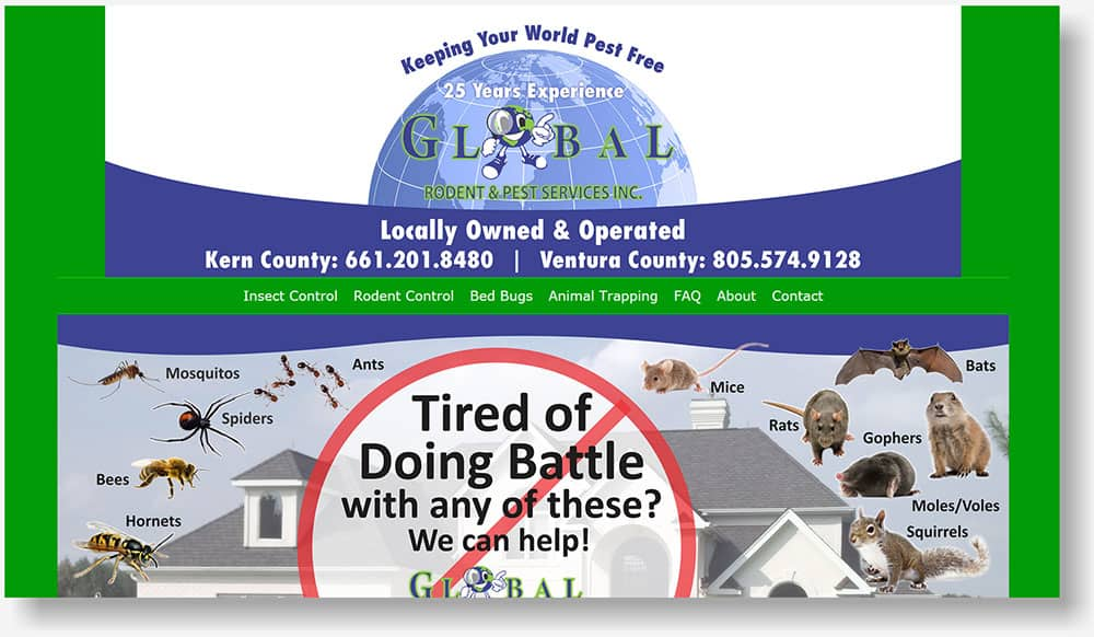Global Rodent & Pest Control website