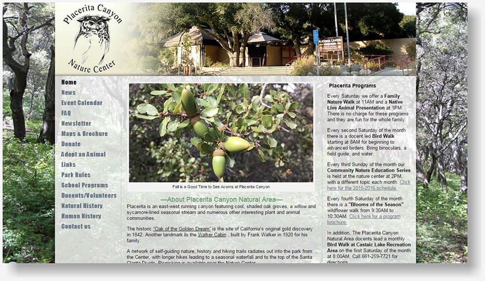 Placerita Canyon Nature Center website