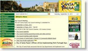 City of Santa Paula website