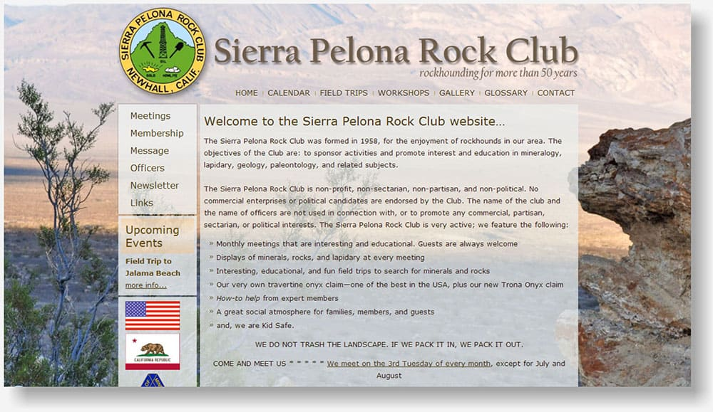 Sierra Pelona Rock Club website