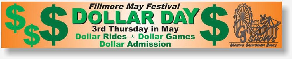 Dollar Days banner