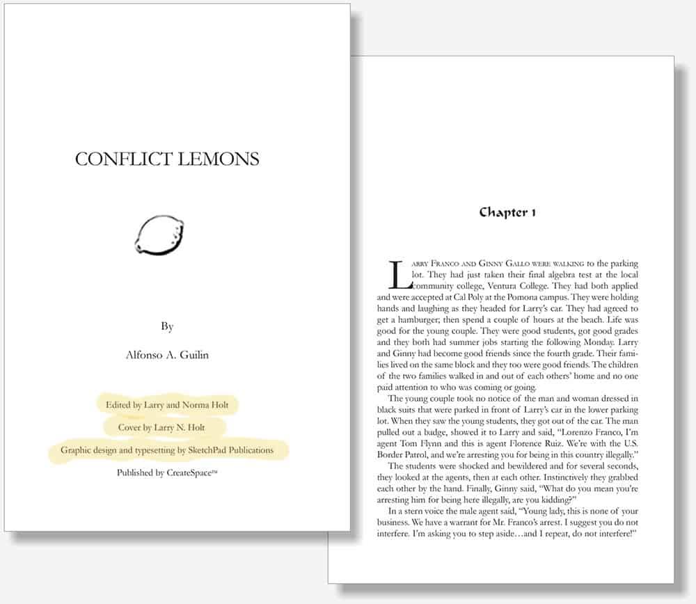 Conflict Lemons book