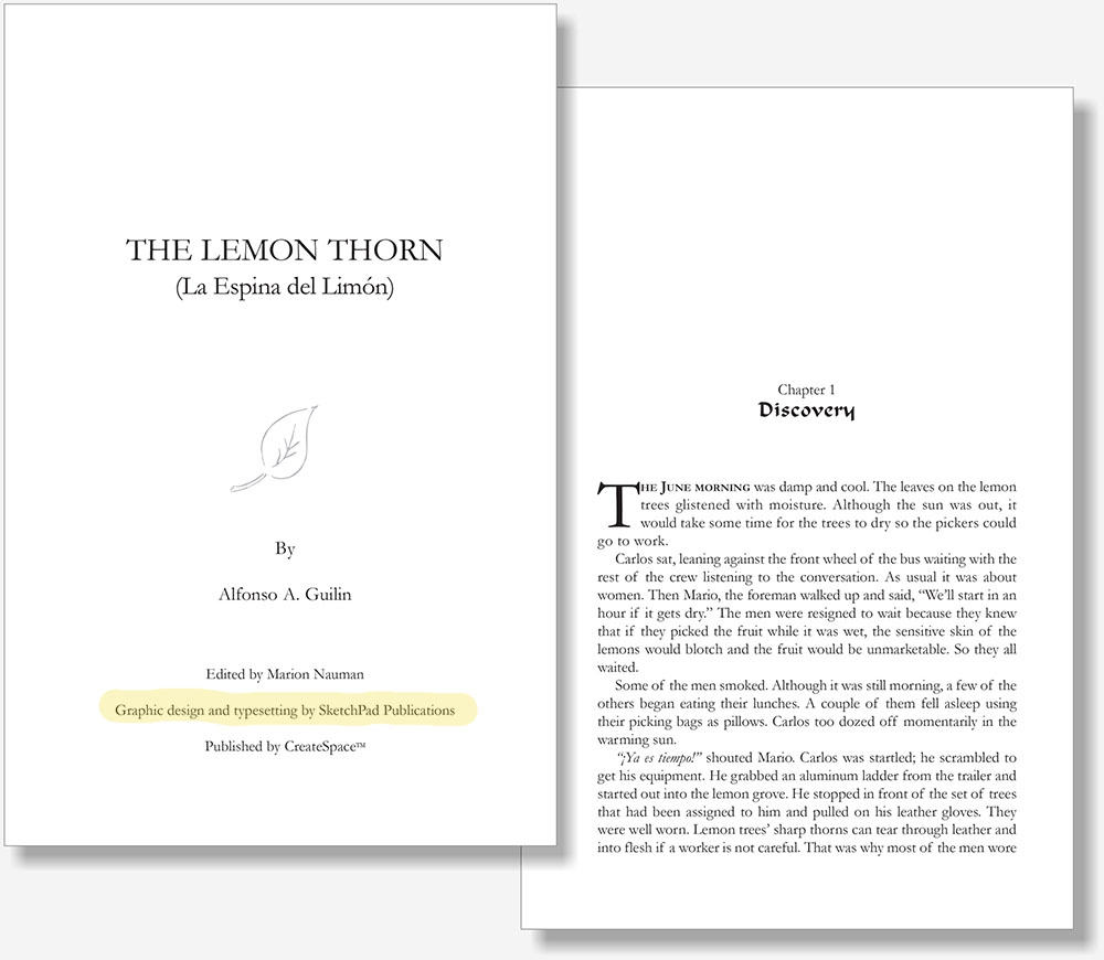 Lemon Thorn book