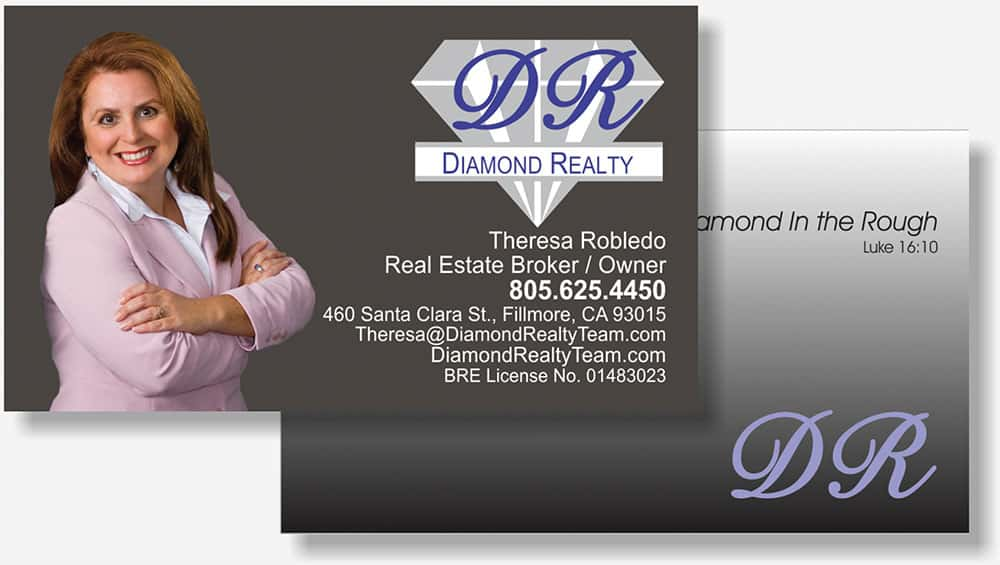 Diamond Realty business card