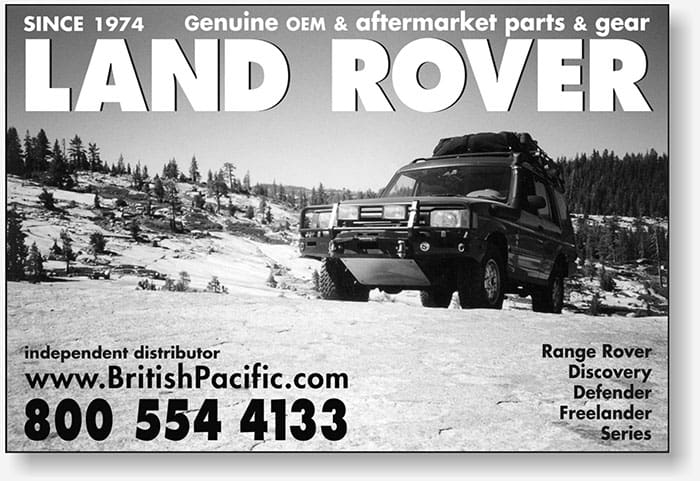 British Pacific small newspaper display ad