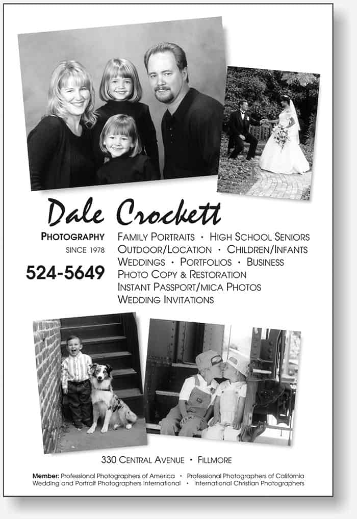 Dale Crockett full page directory ad