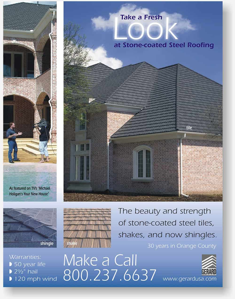 Gerard Roofs full page magazine ad