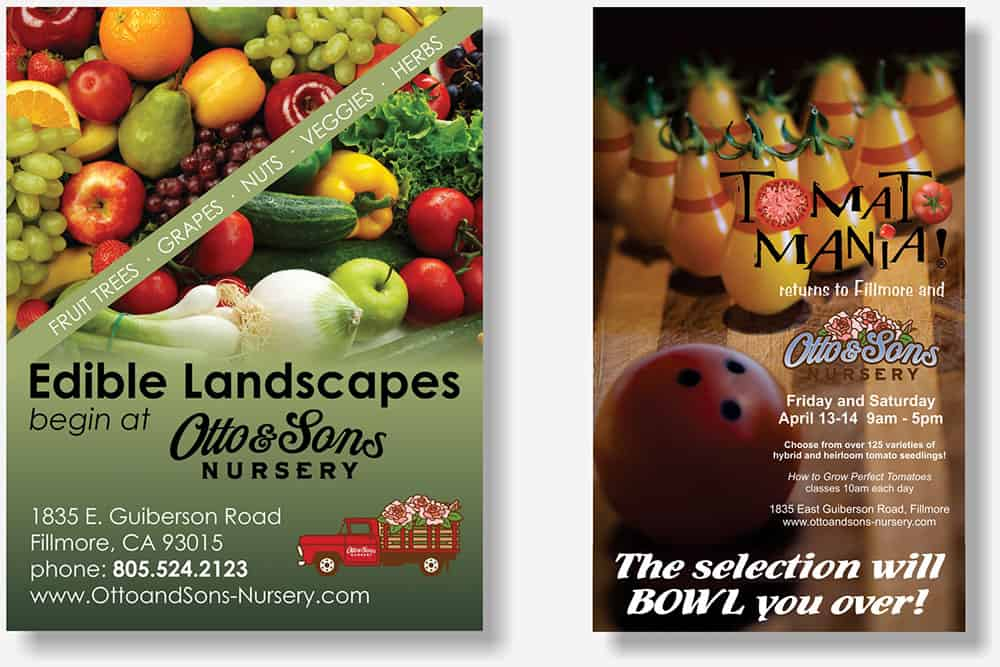 Otto and Sons Nursery small magaine display ads
