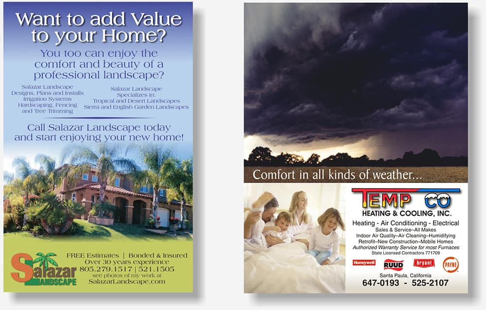 full page directory display ads