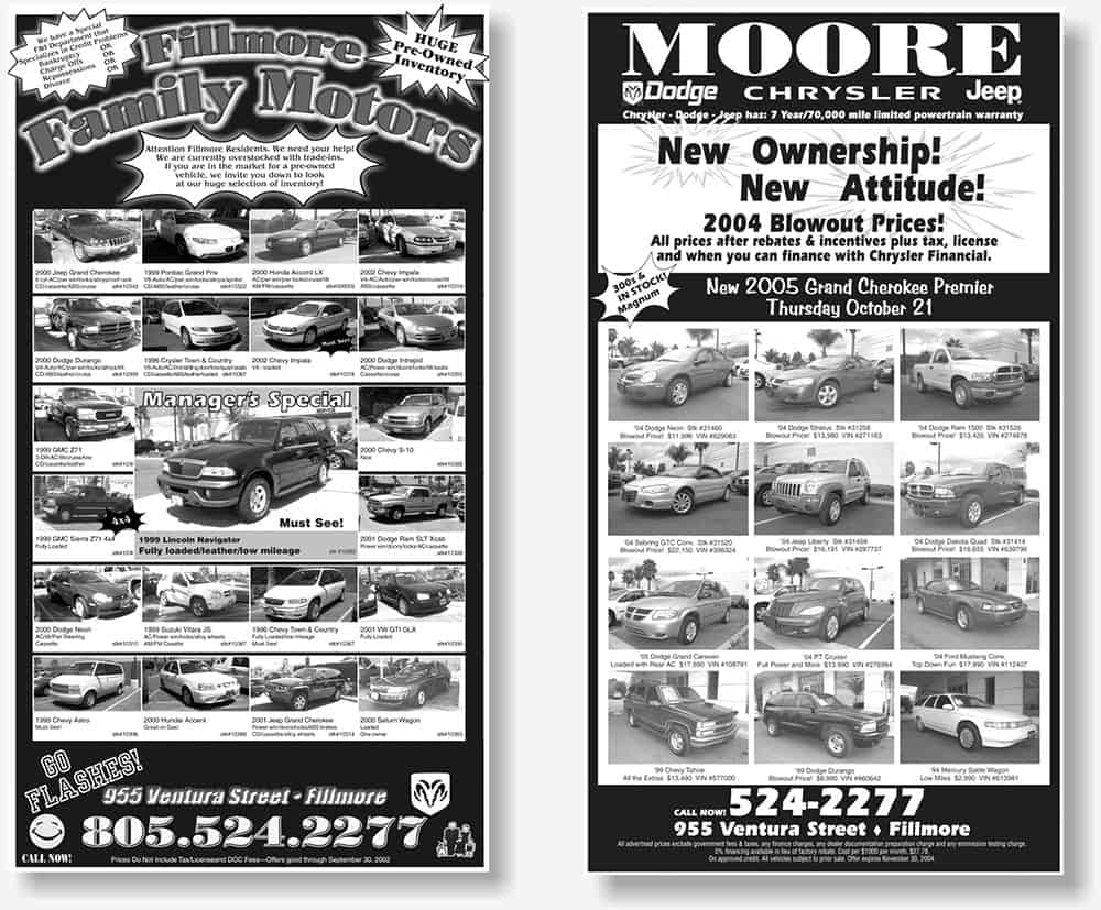full page newspaper advertisements