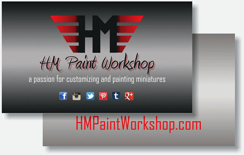 HM Paint Workshop business card