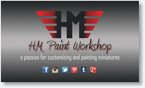 HM Paint Workshop label