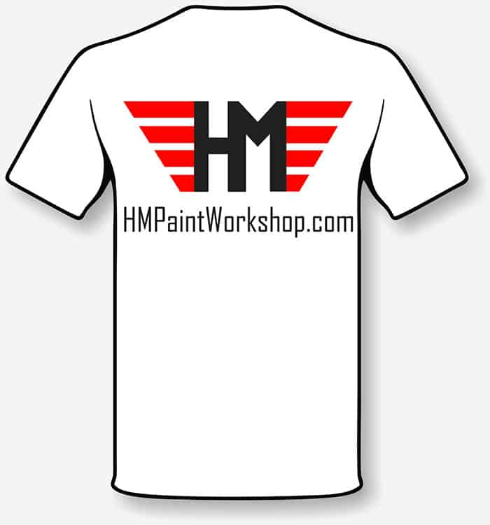 HM Paint Workshop t-shirt