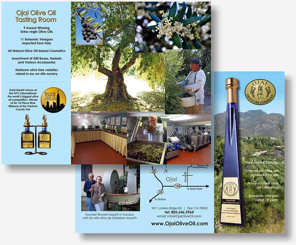 Ojai Olive Oil brochure
