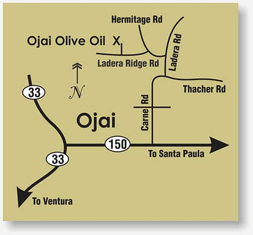 Ojai Olive Oil map