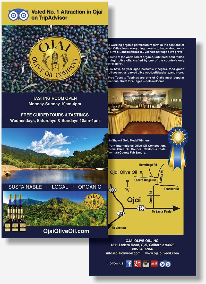 Ojai Olive Oil rackcard