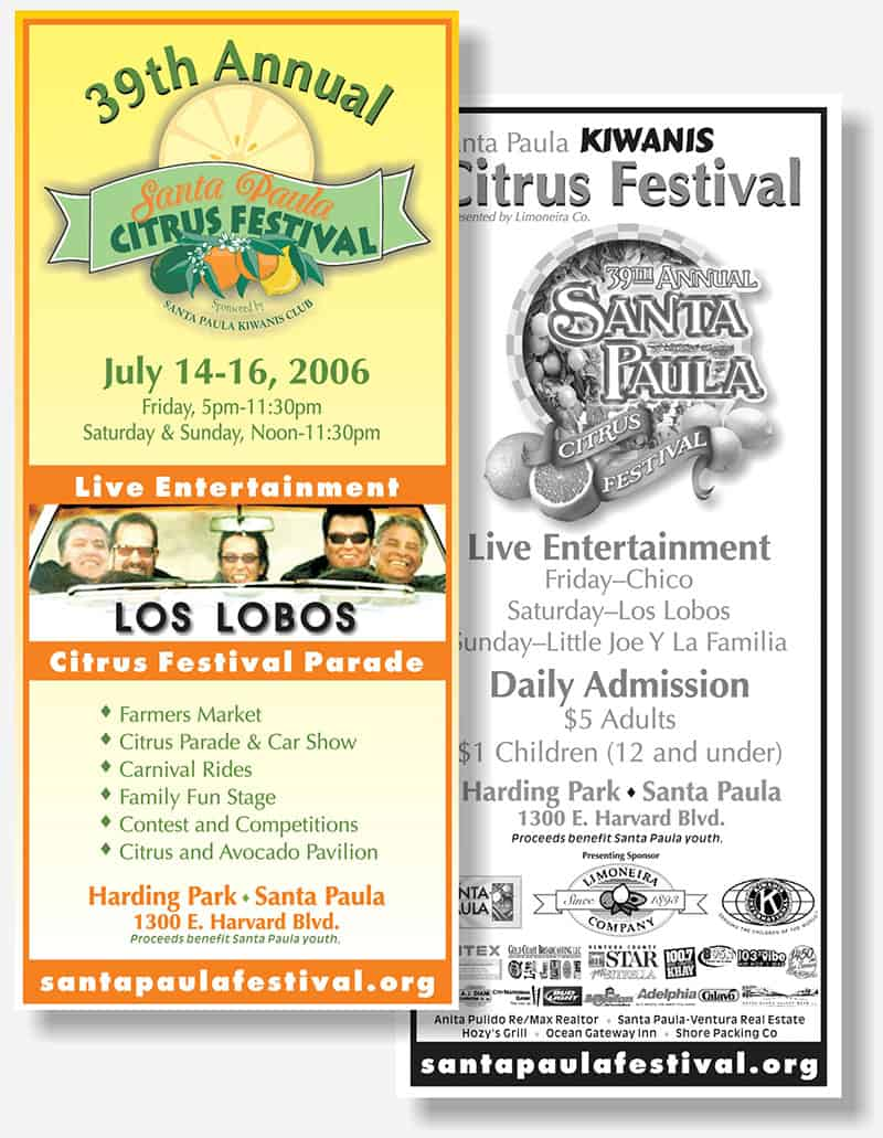 Citrus Festival rack card