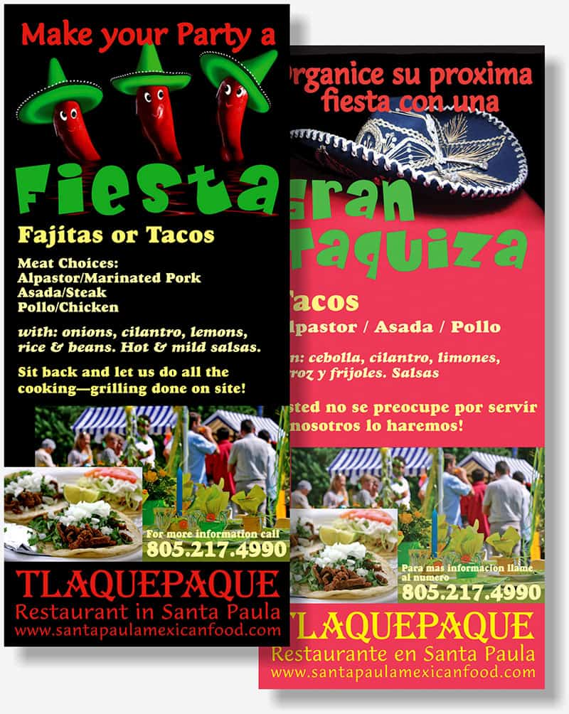 Tlaquepaque Restaurant rack card