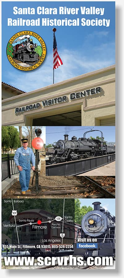 Santa Clara River Valley Railroad Historical Society banner