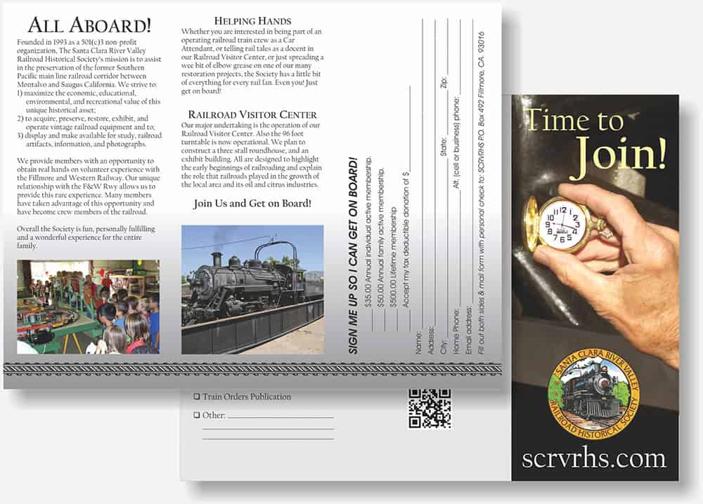 Santa Clara River Valley Railroad Historical Society brochure