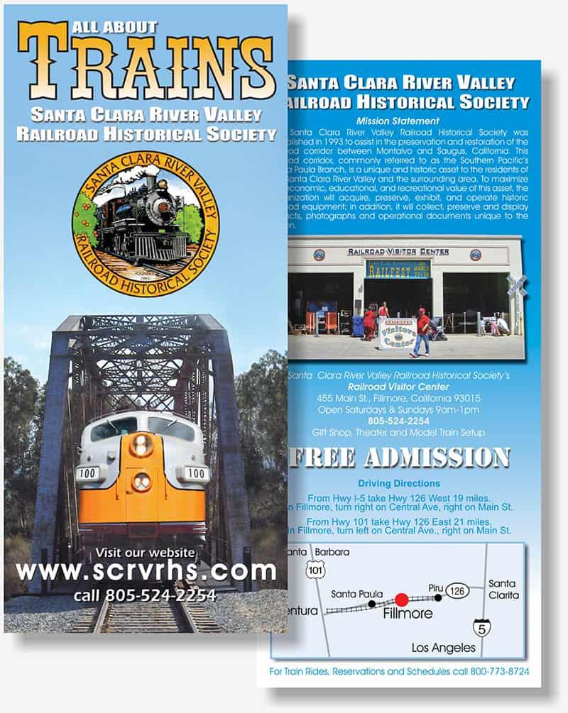 Santa Clara River Valley Railroad Historical Society rack card