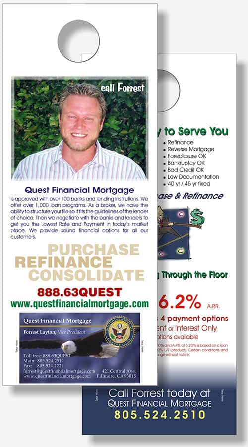 Quest Financial door hanger